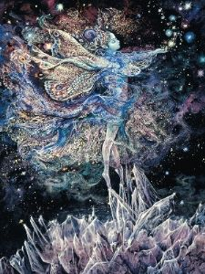 "Loving Thoughts Card ""Crystal Fairy"" Loving Thoughts Greetings Card by Josephine Wall"